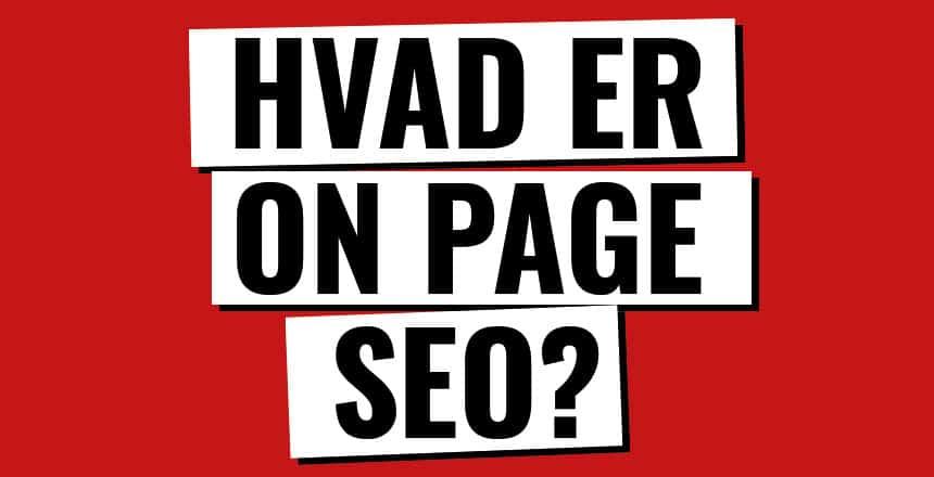 hvad er on-page seo
